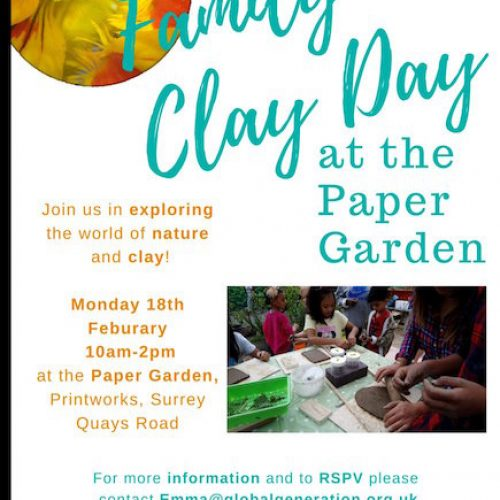 Family Clay Day at The Paper Garden