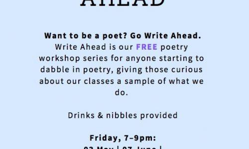 Write Ahead – Free Drop-in Poetry School Workshops