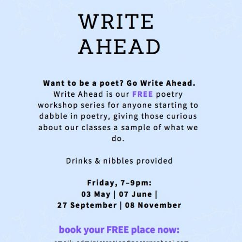 Write Ahead – Free Drop-in Poetry School Workshops