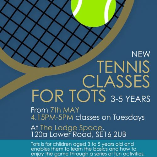 Canada Water Tennis Club, new Tots classes at The Lodge Space