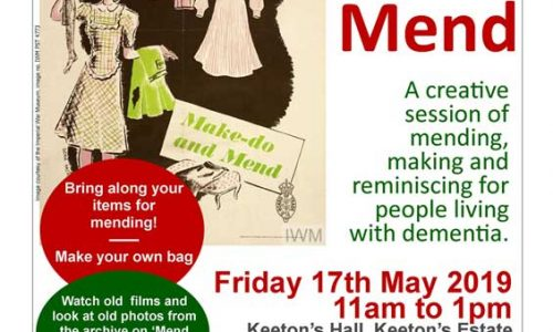 Make Do and Mend event for people living with dementia