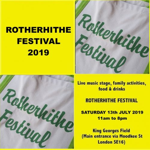 Rotherhithe Festival 2019, music and fun for all the family