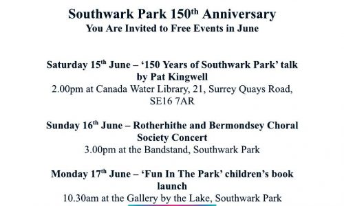 Southwark Park 150th Anniversary with Southwark Park Association 1869