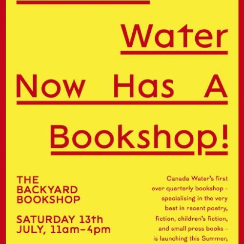 The Backyard Bookshop at the Poetry School