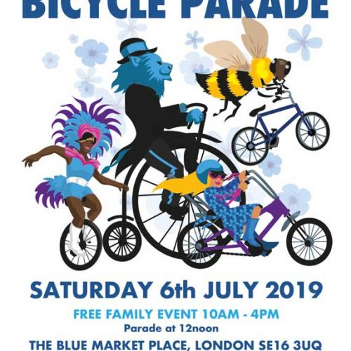 Bermondsey Carnival Bicycle Parade 2019 in The Blue