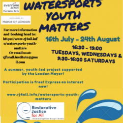 Watersports Youth Matters with  Restorative Justice For All
