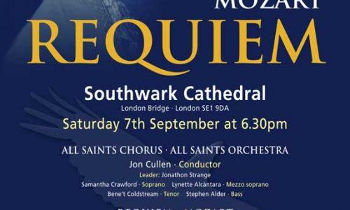 Southwark Cathedral: Mozart Requiem – All Saints Chorus & Orchestra