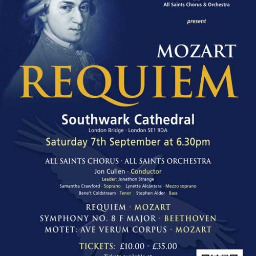 Southwark Cathedral: Mozart Requiem – All Saints Chorus & Orchestra
