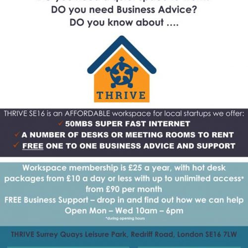 Super-fast Broadband at Thrive, the entrepreneurs hub in Rotherhithe