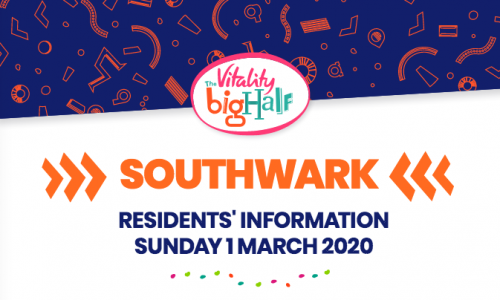 Vitality Big Half 2020, road closures in Rotherhithe and Bermondsey